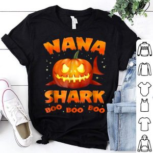 Original Nana Shark Pumkin Halloween Christmas shirt