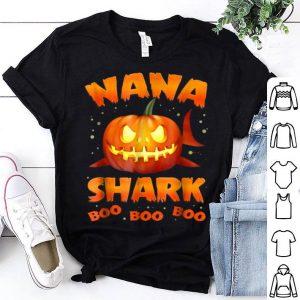 Original Nana Shark Pumkin Halloween Christmas shirt
