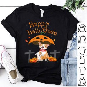 Pitbull Happy Halloween Pumpkin shirt