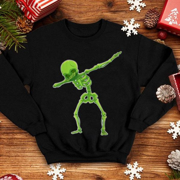 Premium Dabbing Skeleton Halloween Funny Gift Tee shirt