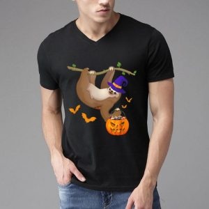 Sloth Witch Pumpkin Candy Bag Halloween Costume shirt