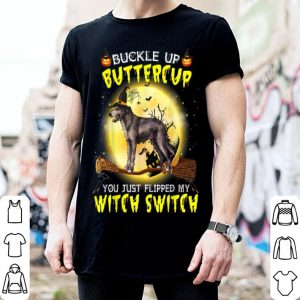 Top Buckle Up Buttercup Irish Wolfhound Dog Halloween shirt