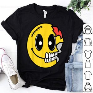 Top Cute Scary Halloween Smiley Skull Costume Emojis Gift shirt