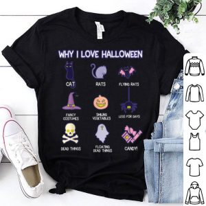 Top Funny Halloween Cat Rat Spider Pumpkin Candy shirt