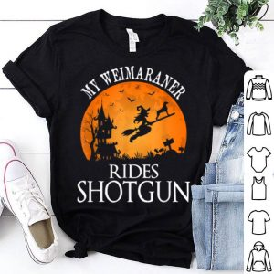 Weimaraner Rides Shotgun Dog Lover Halloween Party shirt