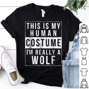 Wolf Halloween Costume Funny Easy shirt