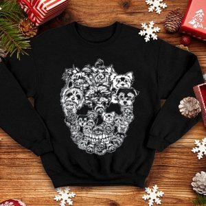 Yorkshire Terrier Dog Skull TShirt Best Halloween Costume shirt