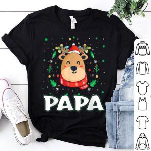 Awesome Cute Papa Reindeer Santa Ugly Christmas Family Matching shirt