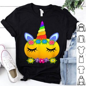 Awesome Cute Unicorn Pumpkin Halloween Funny Thanksgiving Gift shirt