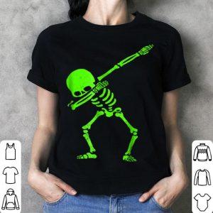 Awesome Dabbing Skeleton Halloween GLOW Skeleton Dab shirt