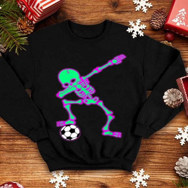 Awesome Dabbing Skeleton Soccer Halloween Dab Kids shirt
