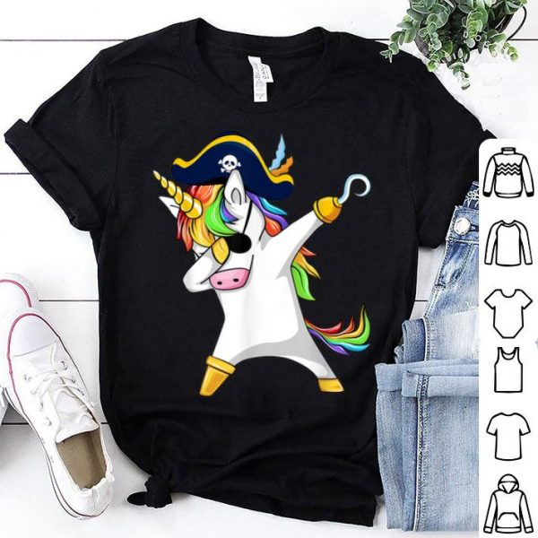 Awesome Dabbing Unicorn Pirate Funny Halloween Costume Gift shirt
