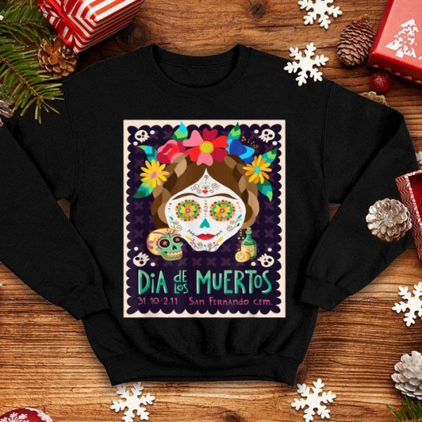 Awesome Day of the Dead Mexican Halloween Sugar Skull shirt
