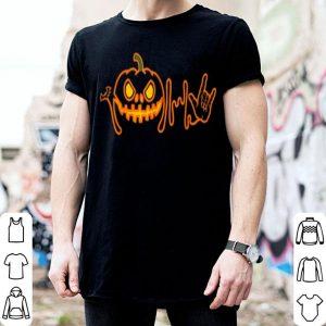 Awesome Halloween Pumpkin Funny ASL Halloween shirt