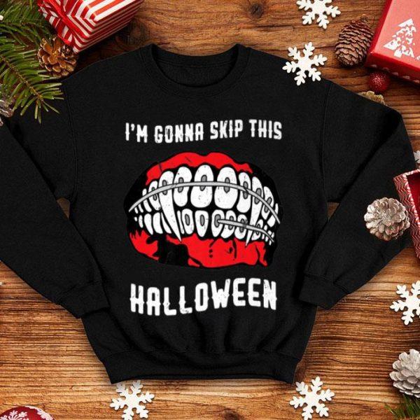 Awesome Horror Braces Vampire Dental Dracula Halloween shirt