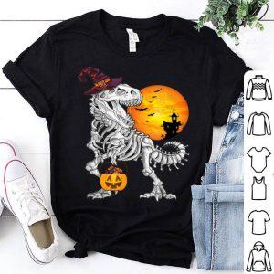 Beautiful Dinosaur with Candy Pumpkin Halloween gifts shirt