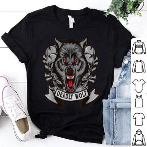 Beautiful Wolf Skull Horror Halloween Animal Gift Men Women shirt