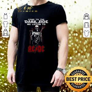 Funny Darth Vader come to the dark side we listen to ACDC shirt 2