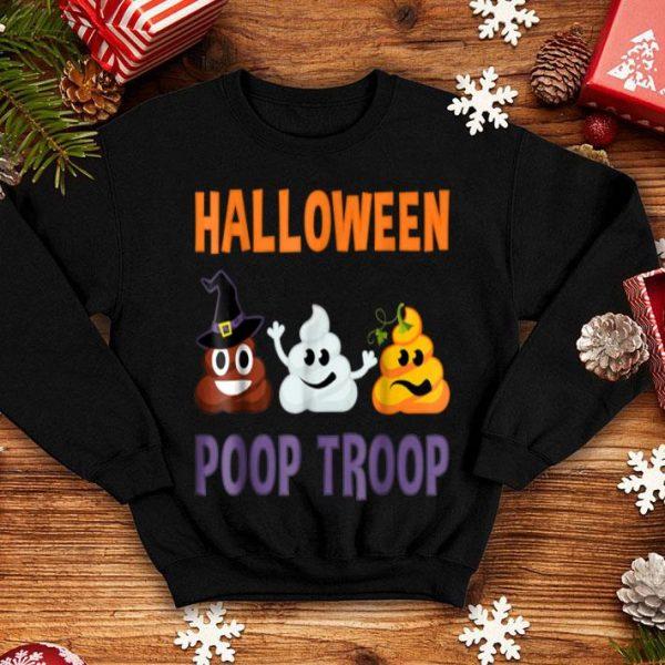 Funny Halloween Poop Emoji - Poop Troop Witch Ghost Pumpkin shirt