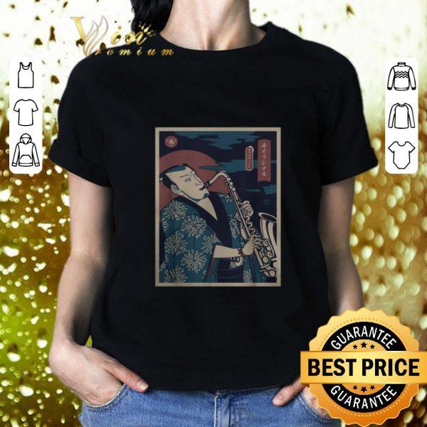 Funny Samurai Saxophone shirt