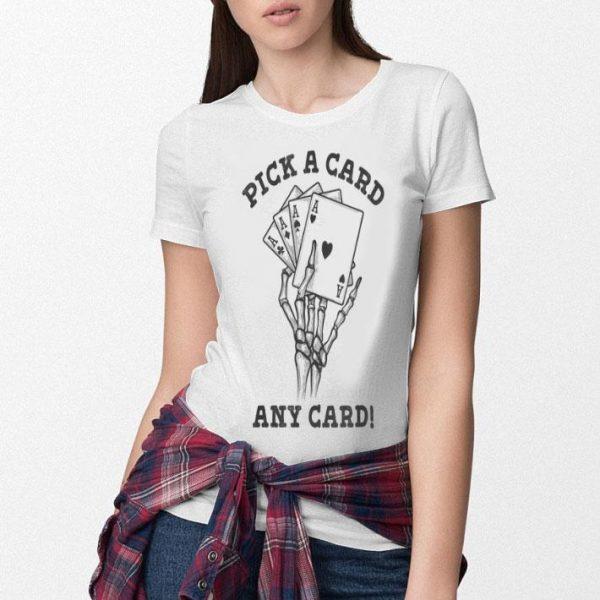 Hot Card Trick Pick a Card Magicians Skeleton Halloween shirt