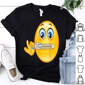 Hot Emoji of Zipper Face Emoticon Halloween Tee shirt