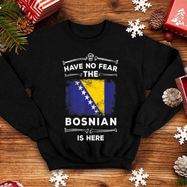 Hot Have No Fear The Bosnian Is Here Halloween Bosnia Flag shirt