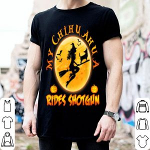 Hot My Chihuahua Dog Rides Shotgun Halloween Costumes Dogs shirt