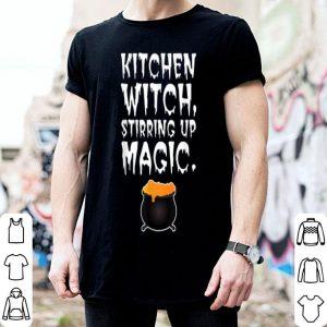 Nice Kitchen Witch Stirring Up Magic Cooking Halloween shirt