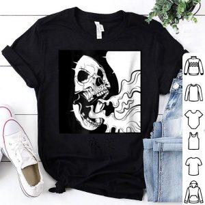 Nice Minimalist japanese Skull Dope shirt