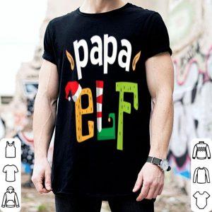 Nice Papa Elf Christmas Daddy Elves Squad Matching Dad Elf Family shirt