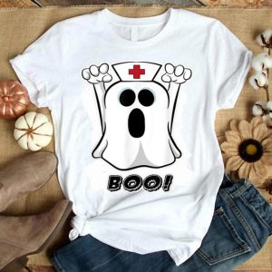 Nice Scary Halloween Night Boo Nurse Ghost Women Girls Gift shirt