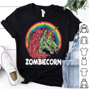 Nice Zombiecorn Zombie Unicorn Halloween Women Rainbow shirt
