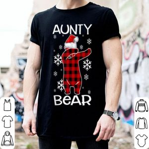 Official Aunty Bear Pajama Dabbing Hat Santa Christmas Family Ugly shirt