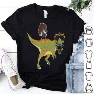 Official Funny Thanksgiving T-Rex Dinosaur -Dabbing Turkey Gift shirt