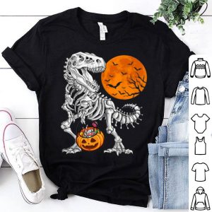 Official Halloween for Boys Kids Dinosaur Skeleton T rex Scary shirt
