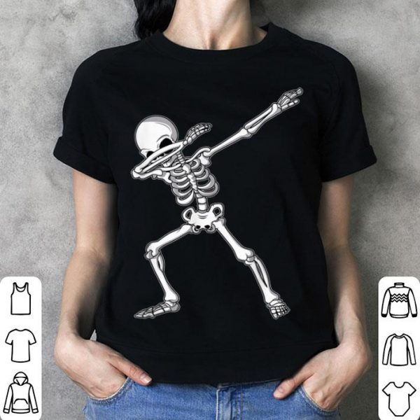 Original Dabbing Skeleton Funny Halloween Dab Kids Adult shirt