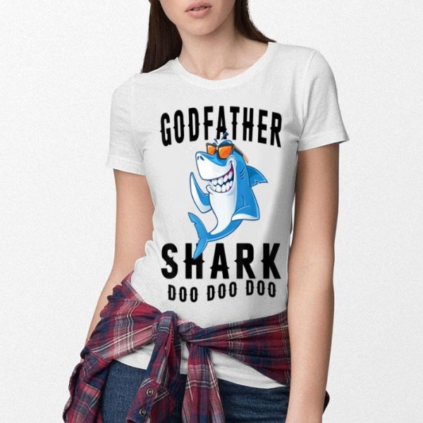 Original Godfather Shark Father Grandpa Halloween Christmas shirt