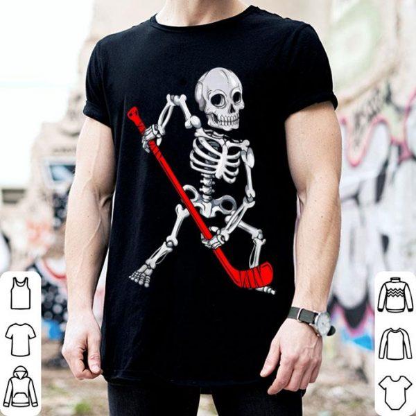 Original Skeleton Hockey Halloween shirt