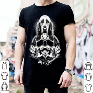 Premium Basset Hound Skull Halloween Costume Funny Gifts shirt