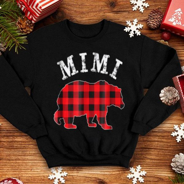 Premium Red Plaid Mimi Bear Matching Buffalo Pajama shirt