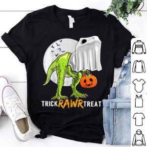 Premium Trick Rawr Treat Halloween T Rex Dinosaur Ghost Boys shirt
