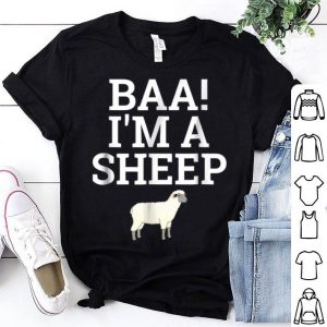Top Baa I'm A Sheep Lazy Halloween Easy Costume shirt