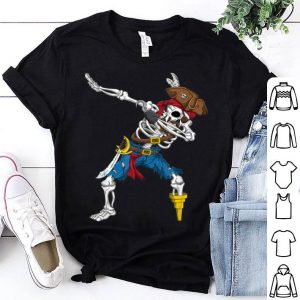 Top Dabbing Skeleton Pirate Funny Halloween Jolly Roger shirt