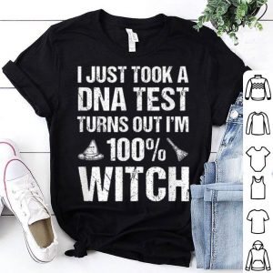 Top Funny DNA test Witch Halloween Costume Witchcraft Women Gift shirt