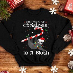 Awesome All I Want For Christmas Is Sloth Lovers Christmas Pajama shirt