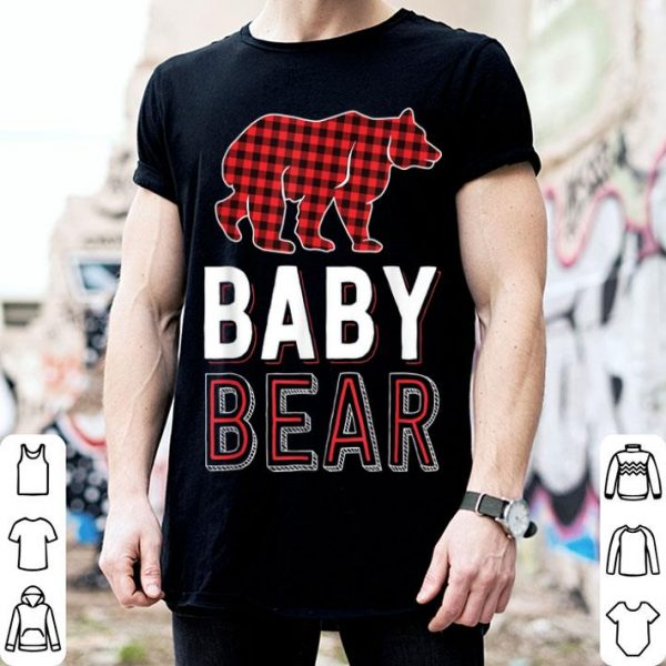 Awesome Baby Bear Kids Red Buffalo Plaid Matching Family Christmas shirt