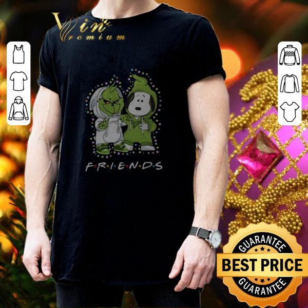 Awesome Baby Grinch and Snoopy Friends Christmas Light shirt