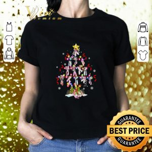 Awesome Ballet shoes Christmas tree shirt 1