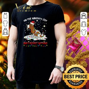 Awesome Basset Hound On the naughty list and i regret nothing Christmas shirt 2
